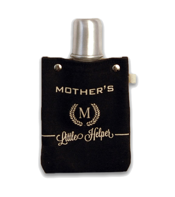 Mother's Helper Flexible Flask with Shot Glass Top, 4-Ounce