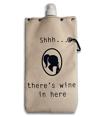Shh... Wine Flexible Flask, 750 ml Flasks and Canteens Tote & Able - ROVE AND SWIG