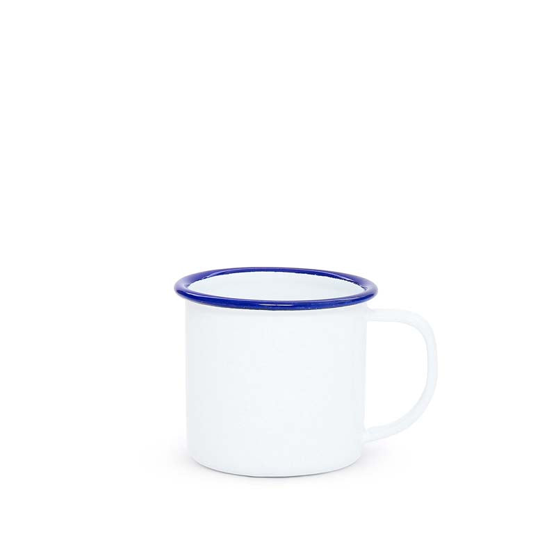 Mug, 8-Ounce, White | more colors Enamelware Crow Canyon Home - ROVE AND SWIG