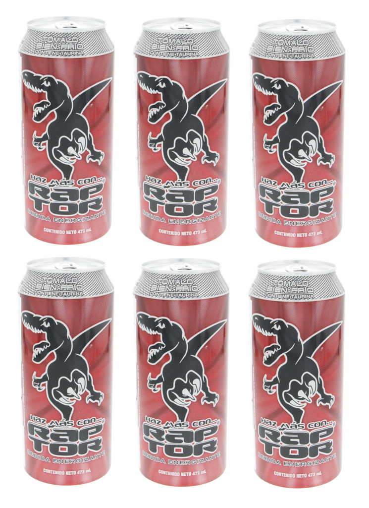 6 PACK - RAPTOR - Sparkling Energy Drink