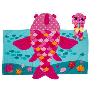 Fish Hooded Beach Towel