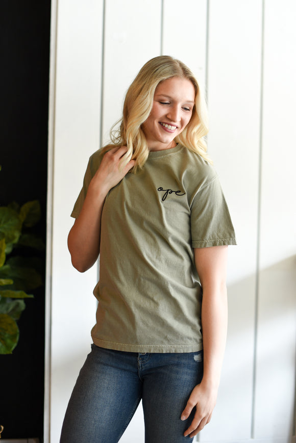 Ope Embroidered Tee - Sandstone