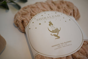 Mermaid Blanket - Blush