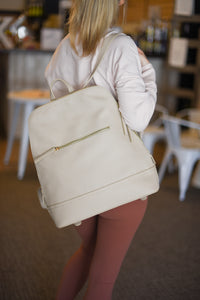 Rena Tech Backpack - Ivory