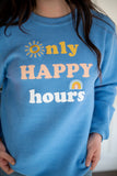 Only Happy Hours Ribbed Sweatshirt