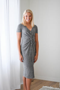 The Waffle Thermal Twist Dress