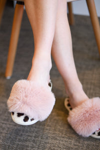 Vail Slippers - Blush Leopard