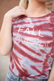 Fall I Love You Tie-Dye Tee
