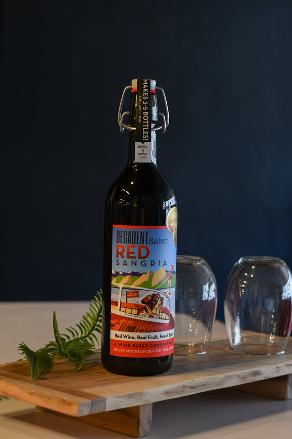 Wine Decadent Saint Red Sangria Bottle