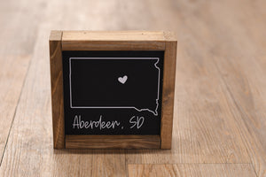 Aberdeen, SD Outline Wood Sign