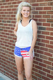 American Flag Liberty Jean Shorts
