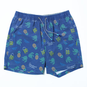 Neon Navy Swim Short
