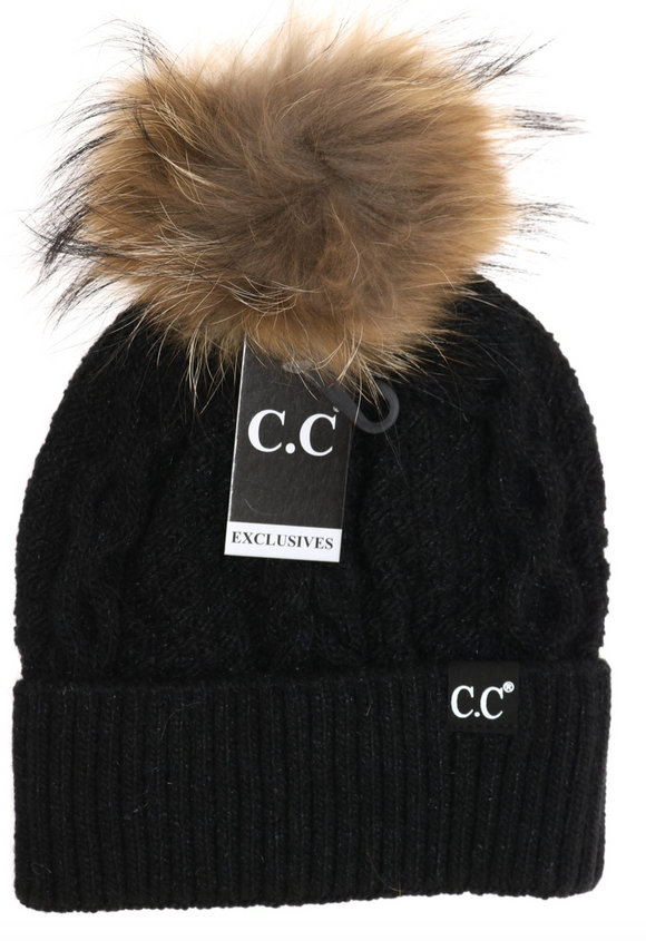 CC Black Label Pom Beanie