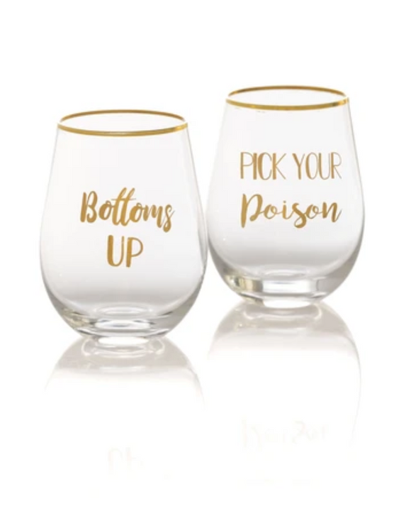 Stemless Wine Set