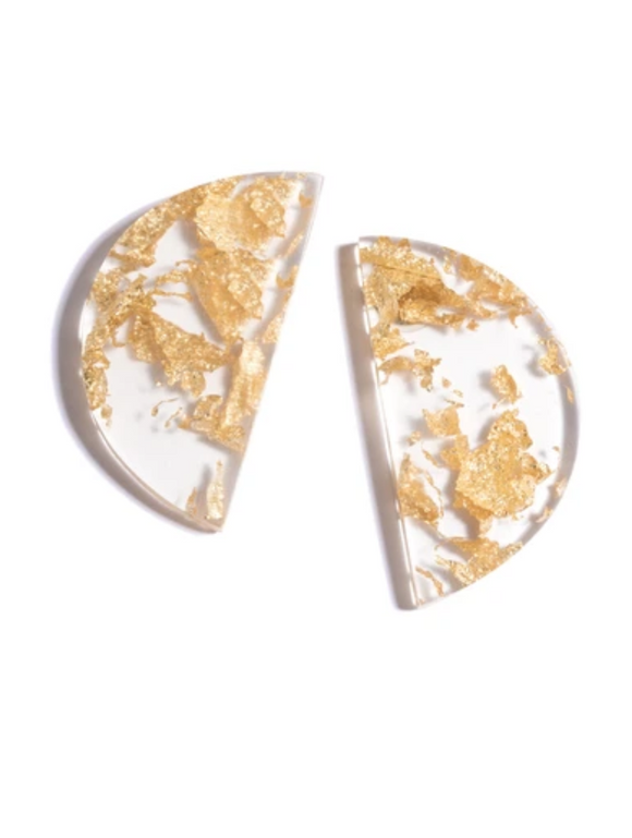 Ida Half Moon Gold Earrings