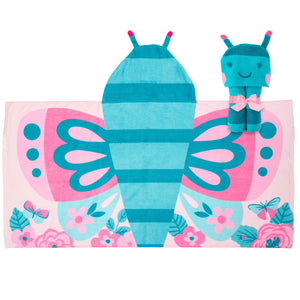 Butterfly Hooded Beach Towel
