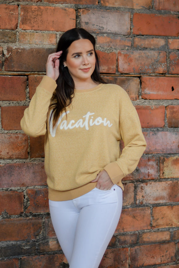 Vacation Sweater Yellow