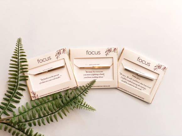 Focus Necklace - Gold