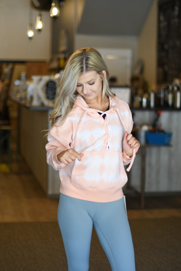 Tie Dye Believer Sweater - Peach