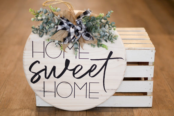 Home Sweet Home Round Wall Decor