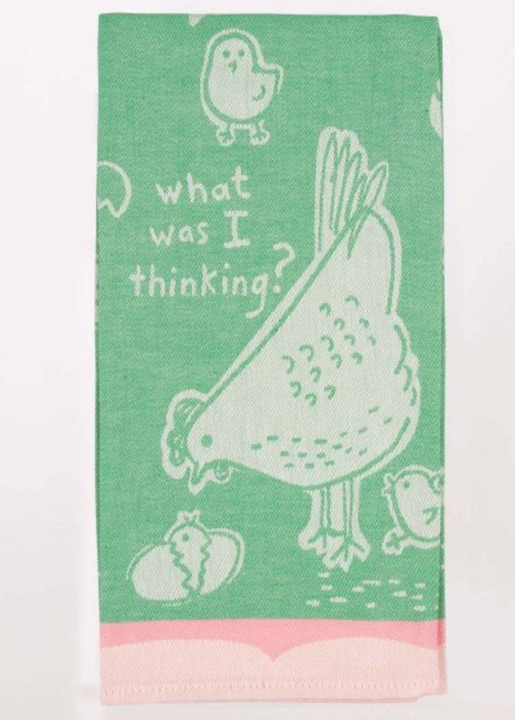 BQ Dish Towel - What Was I Think
