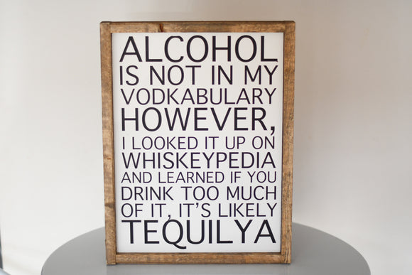 Alcohol Vocabulary