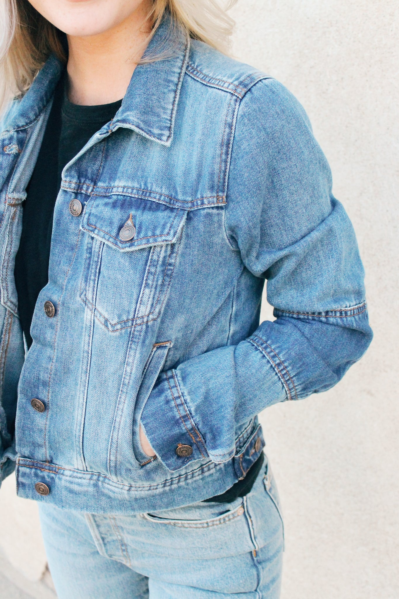 Rumors Denim Jacket Navy