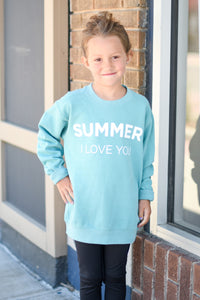 Kid's Summer I Love You Sweater