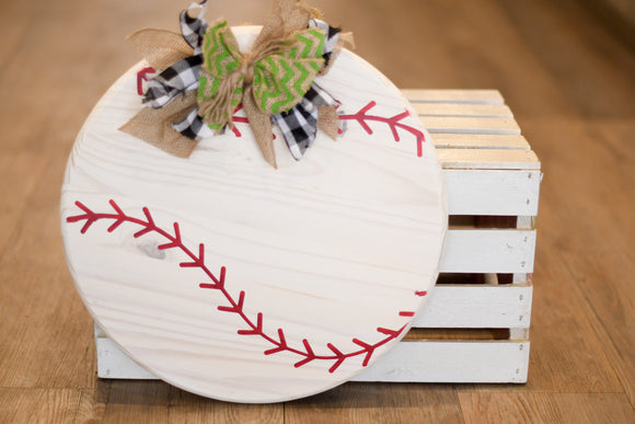 Baseball Round Wall Decor