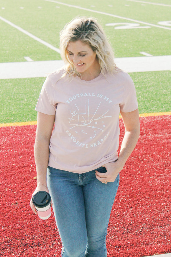 Football Fav Tee (Rose)