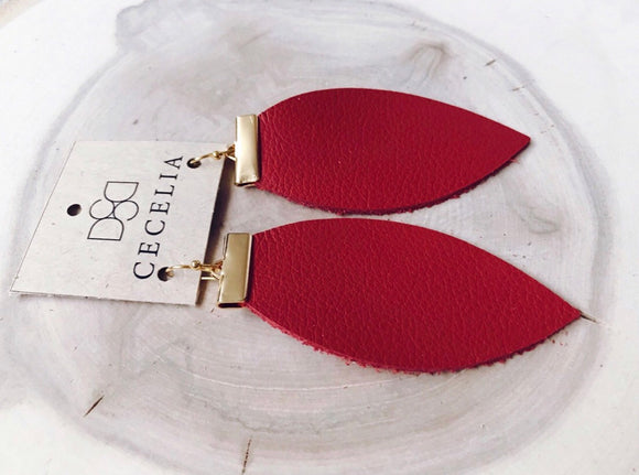 Cecelia Bar & Leather - Candy Apple Red