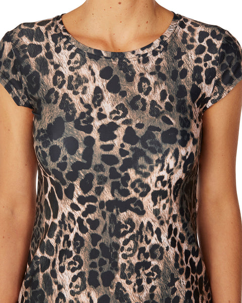 Swim Tee Leopard - Sale