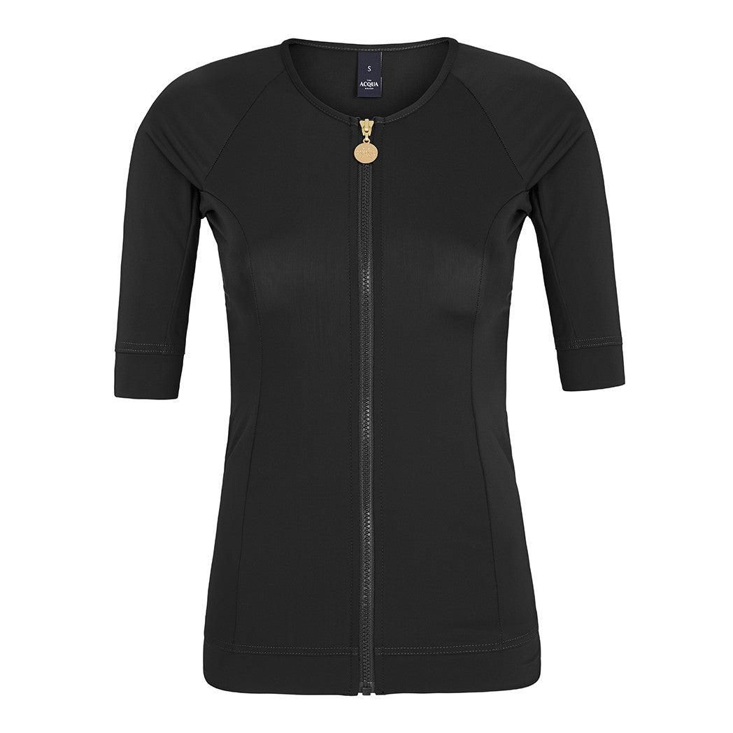 Short Sleeve Black Rashguard