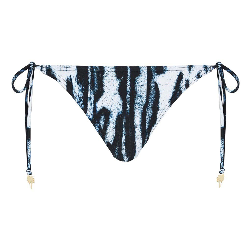 Tie Side Bikini Brief Navy Leopard