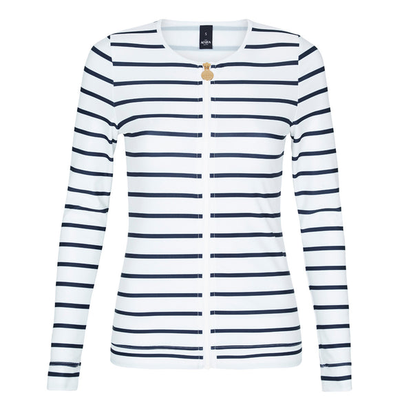 Long Sleeve White Nautical Rashguard