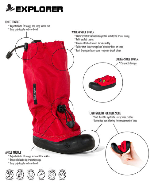 MyMayu Explorer Outdoor Waterproof Kids Boots