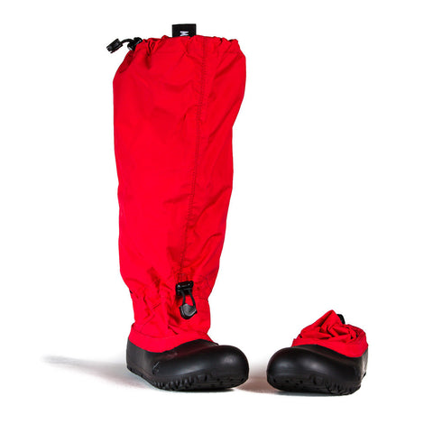 MyMayu outdoor rainboots for kids.  Explorer - Red with Black Soles