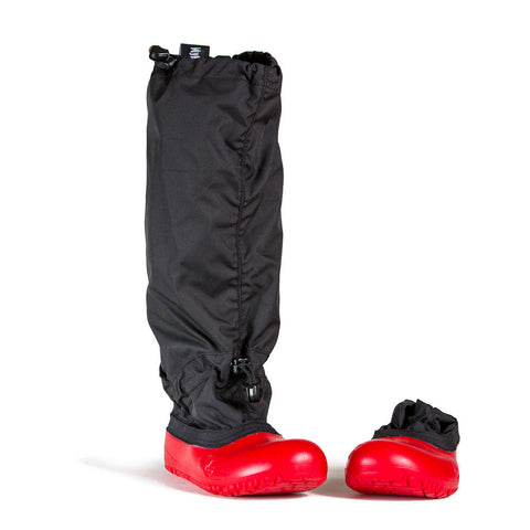 MyMayu Black and Red Outdoor Rainboots for Kids - Front View