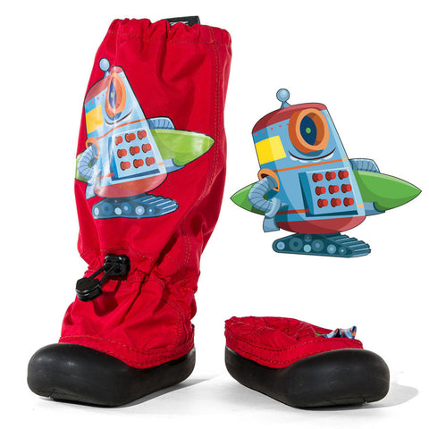 MM - Red Surfer Robot - Lightweight Outdoor Boots (Infant & Toddler)