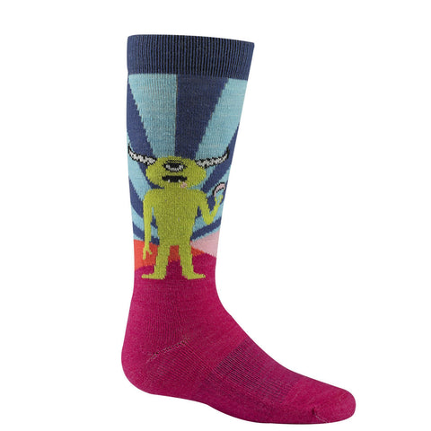 Snow Yeti Socks by WigWam - Pink Scramble