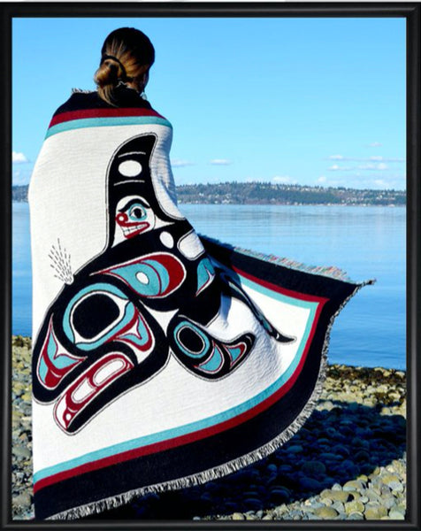 NW Coastal Tribe Artist Design Throw Blankets - Tlingit, Haida, Tsimshian
