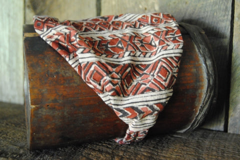 Cotton Block Print Natural Dye Headband VII