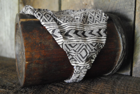 Cotton Block Print Natural Dye Headband VIII