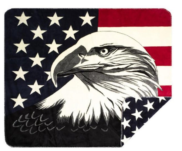 Eagle Stars Denali Microplush™ Throw Blanket
