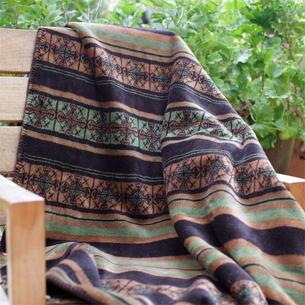 Denali Microplush™ Throw - Dark Chocolate Stripe