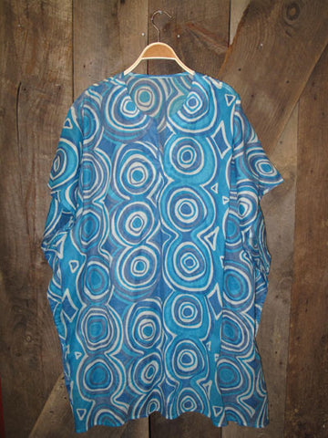 Spiral Butterfly Kaftan - Turquoise/Blue Spiral