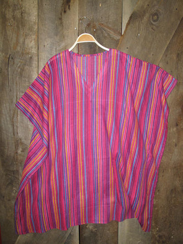 Striped Butterfly Kaftan - Pink or Purple Striped