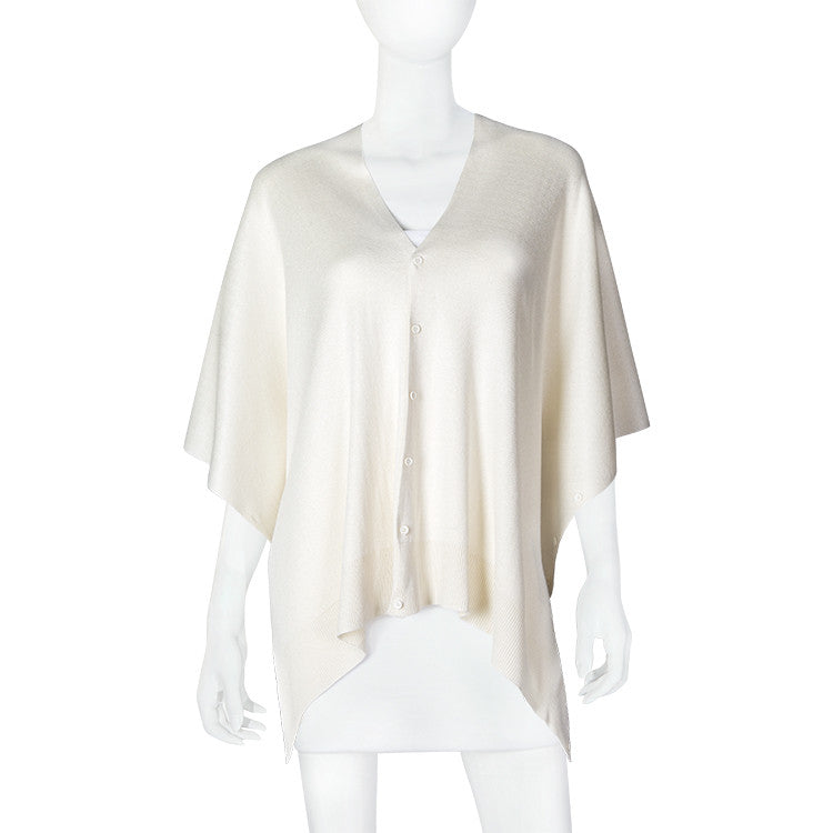 Bamboo Ivory Scarf-Shawl-Cardigan 3 in 1 by Papillon -   - 1