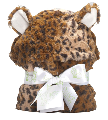 Cheetah Faux Fur Baby Hooded Blanket -   - 1