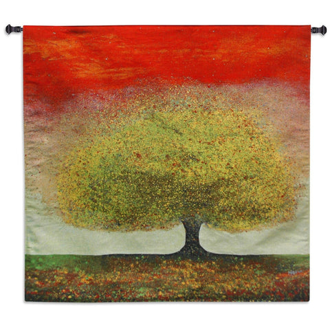 Dreaming Tree Red Wall Tapestry by Melissa Graves Brown©